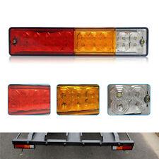 Pair 20 LED Tail Light Car Truck Trailer Stop Rear Reverse Turn Indicator Lamp