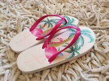 MONSOON ACCESSORIZE  Women Girls Flamingo FLIP FLOP SANDALS NEW! SIZE Medium 5-6