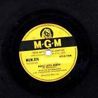 1958 UK #1  MARVIN RAINWATER  78  WHOLE LOTTA WOMAN / BABY DON'T GO   MGM 974 E-