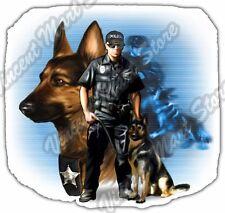 "Police Dog K9 K-9 Officer German Shepherd Car Bumper Vinyl Sticker Decal 4.6"""