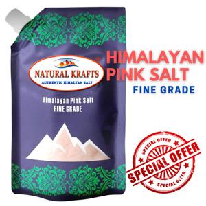 ORGANIC LIGHT PINK HIMALAYAN 100% Natural SALT Fine 1KG to 25KG Food & Bath