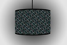 30cm Grigio circolare design paralume Da Appendere Paralume Fatto a mano lampada da soffitto a tamburo