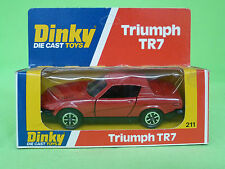 DINKY TOYS   211    TRIUMPH TR7   IN EXCELLENT CONDITION IN BOX