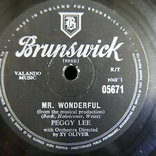 78 rpm PEGGY LEE mr wonderful / the gypsy with fire in his shoes