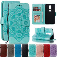 For Nokia 2.1 3.1 5.1 6.1 7 Sunflower Leather Flip Wallet Stand TPU Case Cover