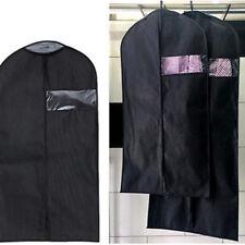 Dustproof Coat Clothes Garment Suit Cover Storage Bag Case W/Zipper Black #ur