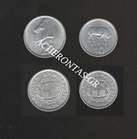 GREECE 1976 Charging Bull & Stalion. 10 & 20 lepta/cents. UNC. CHECK!!!