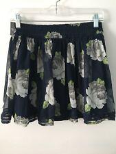 NWT Abercrombie & Fitch Gorgeous Floral Chiffon Skirt Medium M