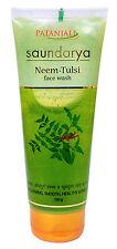 Patanjali Saundarya Neem - Tulsi Face Wash From Herbals 100 gram Free Shipp