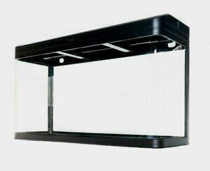 Aquarium Fish Tank ONLY - 230L Glass SMD LED Black White Pump Filter