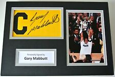 Gary Mabbutt Signed Captains Armband A4 photo display Tottenham Hotspur PROOF