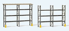 HO Preiser 17125 Industrial Warehouse Pallet Racks : 1/87 scale KIT