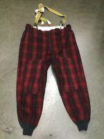 Vintage Woolrich Hunting Pants Heavy Wool Buffalo Plaid Red Black Men's Waist 42