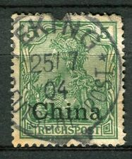 GERMAN COLONIES; CHINA early 1900s Optd. issue used 5pf. fair Postmark