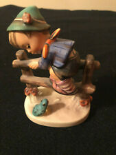 """Hummel 201 2/0 """"Retreat To Safety� Boy On Fence – 1972-79 Tmk-Excellent"""