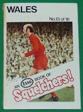 1970 FOOTBALL ESSO BOOK OF SQUELCHERS ! N°13 WALES