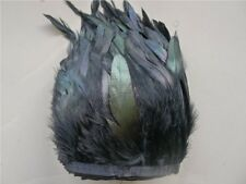 10 yards Black IRIDESCENT Rooster Coque Tail Feathers 6-8 inch 15-20cm Y0132