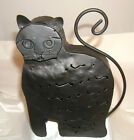 Black Metal Cat votive or tea light candle holder great for patio