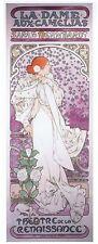 Alphonse Alfons Mucha Sarah Bernhardt Dame Dame aux Camelias Poster & FREE Print