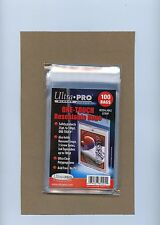 "100 ULTRA-PRO ""ONE TOUCH RE-SEALABLE BAGS"" FOR MAGNETICS & SCREW-DOWNS, NO PVC!"