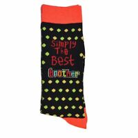 Simply The Best Brother Socks birthday, christmas, fathers day gift present