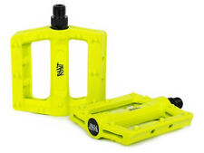 RANT HELLA PEDALS BMX BIKE FIT ALL 3 PC CRANKS SE CULT HARO HIGHLIGHTER YELLOW