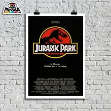 POSTER LOCANDINA JURASSIC PARK MOVIE 1993 film dinosauri Steven Spielberg TOP