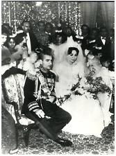 Iran, Mariage du Shah d'Iran avec Farah Diba  Vintage silver print Tirage
