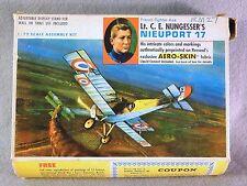 "Renwal 1/72 Nieuport 17 WWI ""Aero-Skin Fabric"" *Rare*Vintage* Plastic Model Kit"