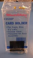"Ultimate Collection #3536P Card Holder For up to 2-1/2""x 4-3/4"" Case of 100"
