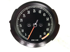 1965 1966 1967 Corvette NOS Hi Perf Tachometer 6500 Redline New in Box OEM
