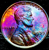 """1939-D Lincoln Wheat Penny Cent- """"Beautifully Toned"""" SUPERB MS++ GEM++ BU++ 01"""