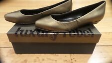New Luxury Rebel LR-FARAH Womens Brass Leather Flat Dress Shoes 38 M Eur- US 7.5