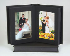 "Professional Slip-In Album: Charcoal, 8x10"" 10 photos-black pages"