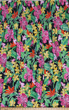 Pre-Smocked Shirred Sundress Fabric Print Tropical Floral Flowers Pink A415.01