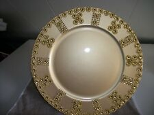 New listing 6Pc Gold With Rhinestones Trim Plate Chargers