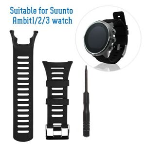For Suunto Ambit 3 Peak/Ambit 1 2 Rubber Rubber Watch Band Replacement Strap