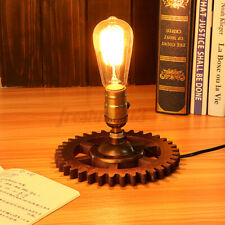 Retro Loft Industrial Fixture Transformed by Iron Pipe Table Desk Lamp Light #