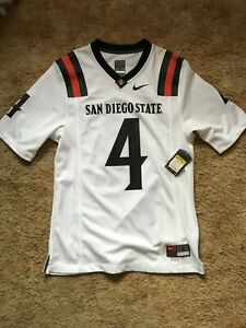 Nike SDSU San Diego State Aztecs Jersey White Black Red Small S 4 Football