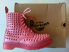 DOC DR MARTENS ACID PINK SMOOTH LEATHER SPIKE STUDDED BOOTS SIZE 6UK US WOMENS 8