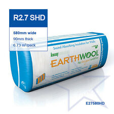 R2.7 SHD | 580mm Knauf Earthwool® Acoustic Wall Insulation Batts