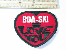 Boa-Ski Snowmobile Patch , I Love You (#1538) * (**)