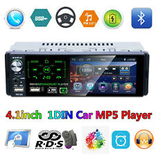 "Solo 1Din 4.1"" Touch Auto estéreo reproductor de MP5 AM FM Radio RDS BT Aux USB TF Reloj"