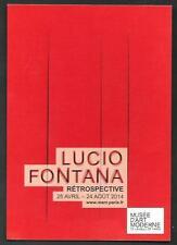 Lucio Fontana : cartolina invito a Mostra a Parigi