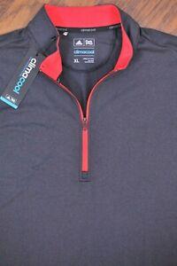 NWT Adidas Golf ClimaCool 1/4 Zip Competition Vest Black Heather Men's XL
