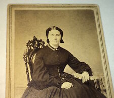 Rare Antique American Civil War Victorian Fashion ID'd Mrs. Tubbs! NY CDV Photo!