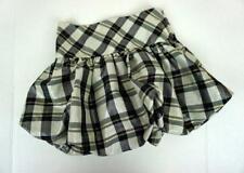 Bonnie Jean Sz. 10 Girls Skirt Bubble Hem Black Silver Metallic Plaid Holiday