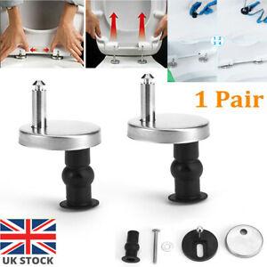 Pair Of Quality Top Fix Wc Toilet Seat Hinge Fittings Quick Release Hinges Kit