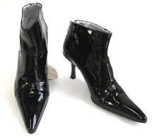 FREE LANCE Bottines talons 8 cm bouts pointus cuir noir verni 38 EXCELLENT ETAT