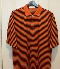 Fairway & Greene Golf Shirt ...XL..Orange/Black stripes